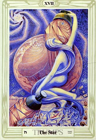 The Star from the Thoth Tarot Deck