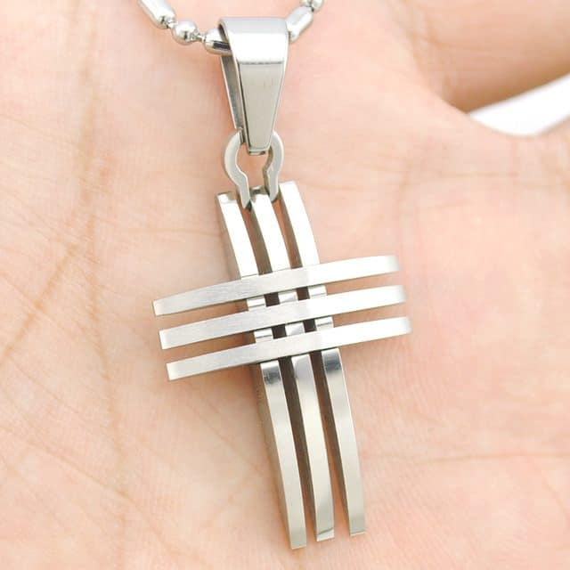 Small cross pendant necklace stainless steel high quality mystical small cross pendant necklace stainless steel high quality aloadofball Gallery