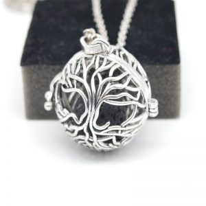 Essential Oil Diffuser Necklace With Lava Stone Lockets