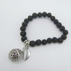 Black Lava Beads Essential Oil Diffuser Bracelet