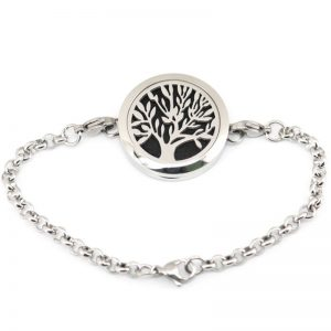 Tree of life  Magnet Aromatherapy Stainless Steel Perfume Diffuser Bracelet