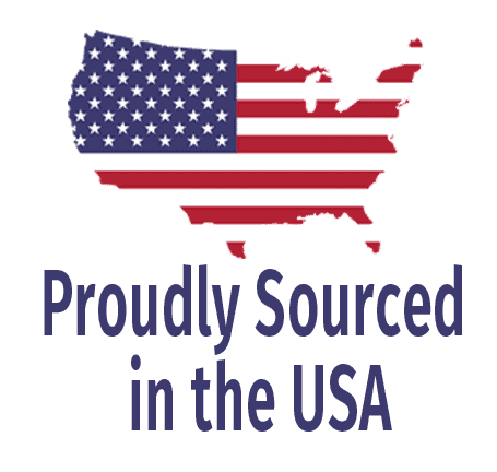 Proudly sourced in the USA
