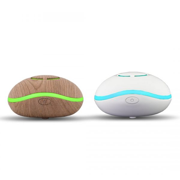 "Lily Fan Travel Aromatherapy Diffuser ""Wood"" or ""White"" - LED lights, USB Powered - SILENT"