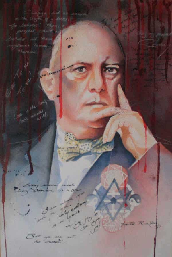 Aleister Crowley - Watercolor on Paper
