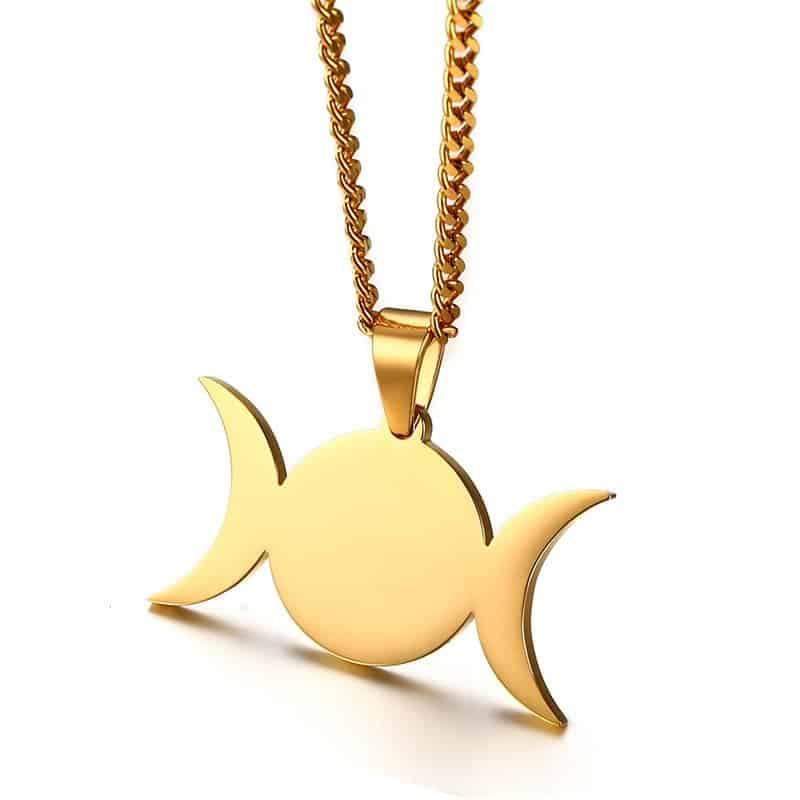 Triple Dess Crescent Moon Pendant