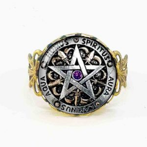 silver plated wiccan ring