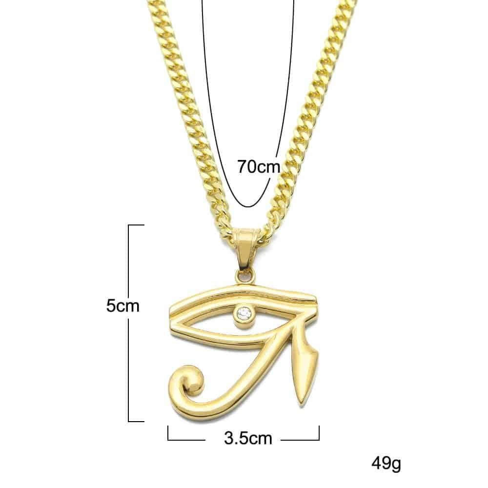 Eye Of Horus Pendant Necklace Mystical Breath