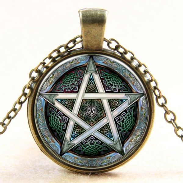Necklace Pentacle Pendant Wiccan Astrology Choker