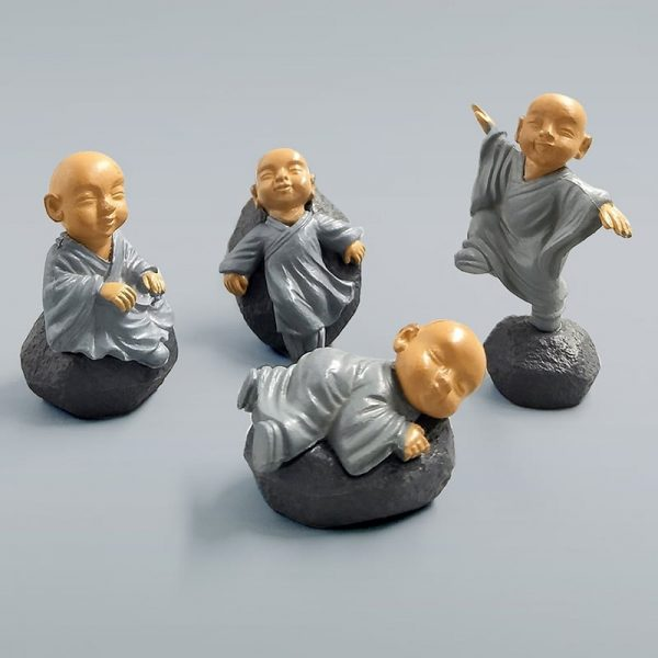 Gray Feng Shui Monks