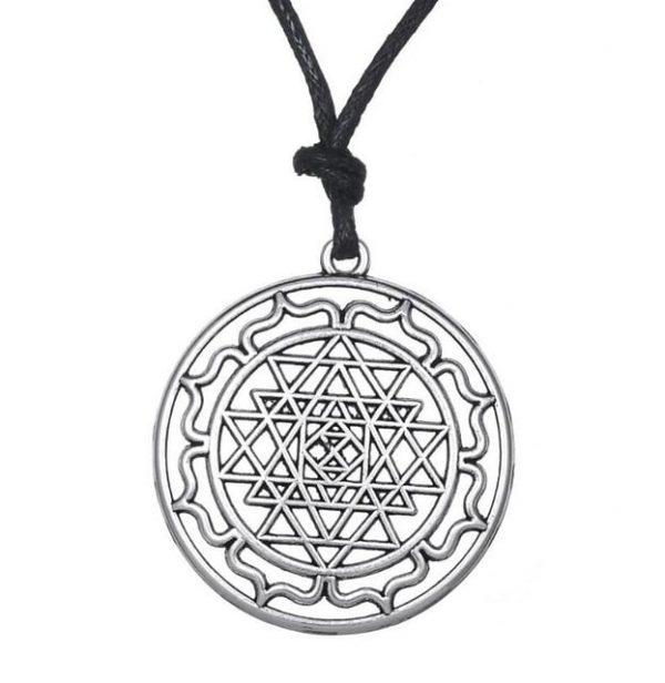 Mandala-CHAKRA-3rd-Eye-Hindu-Goddess-Pendant