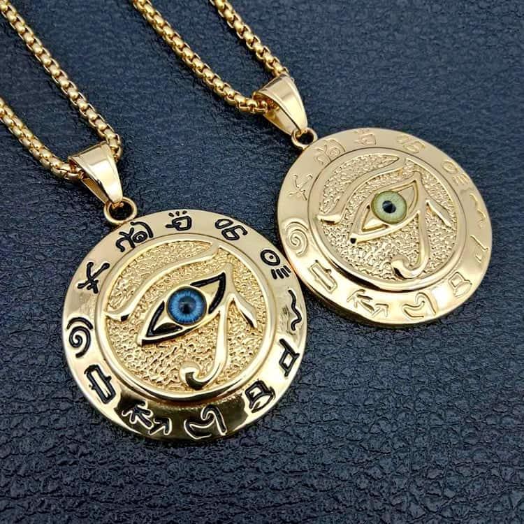 Eye Of Horus Symbol Pendant Necklaces Mystical Breath