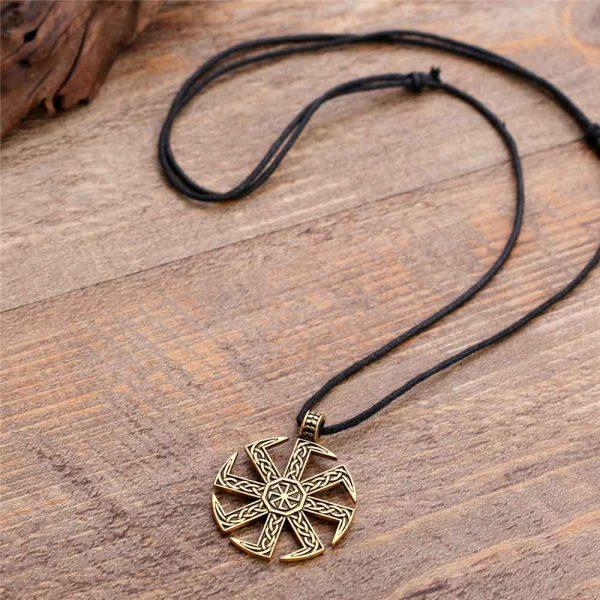 Gold sunwheel