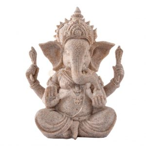 Hand-Carved-Sandstone-Seated-Ganesh-Buddha-Deity-Elephant-Hindu-Statue-Decor-1