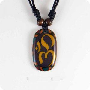 Hindu resin pendant