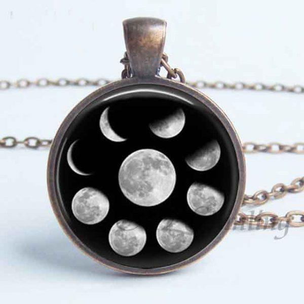 Lunar Pendant Bronze