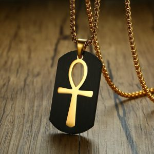Black and Gold Ankh