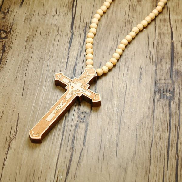 -Large-Wood-Catholic-Jesus-Cross-With-Wooden-Bead-Carved-Rosary-Pendant-Long-Collier-Statement-Necklace