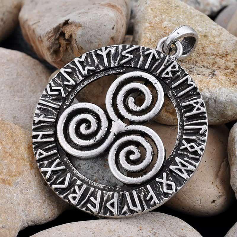 Celtic triskele pendant necklace mystical breath celtic triskele pendant necklace aloadofball Image collections