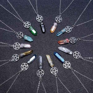 Wicca Quartz Rod Pendants