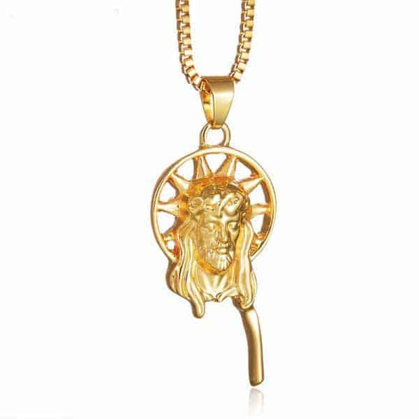 Christ Pendant Gold Color
