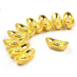 feng shui gold ingots
