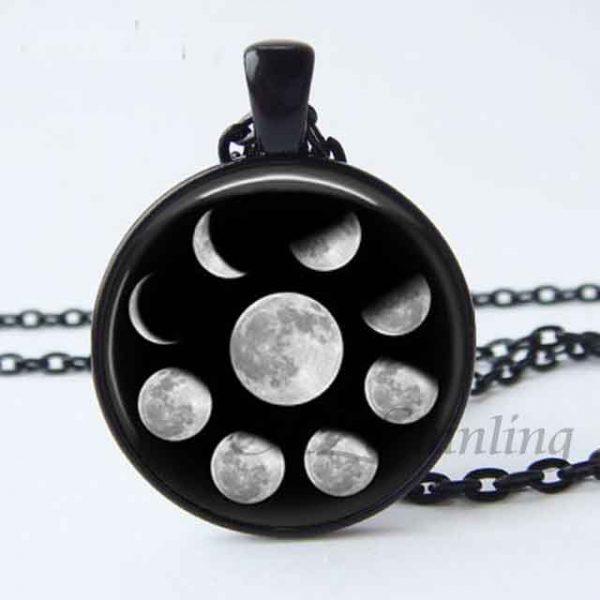 lunar Pendant Black