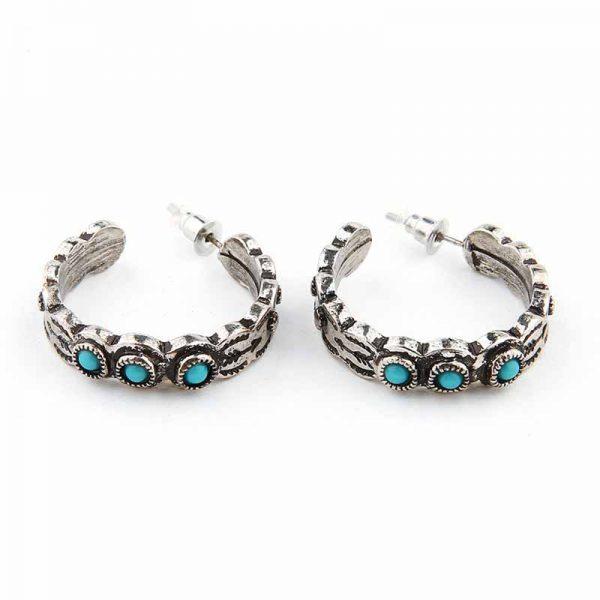 navajo Hoop Earrings