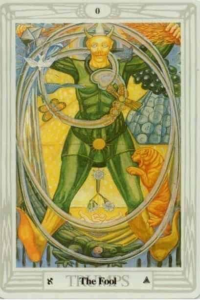 The Fool from the Thoth Tarot Deck