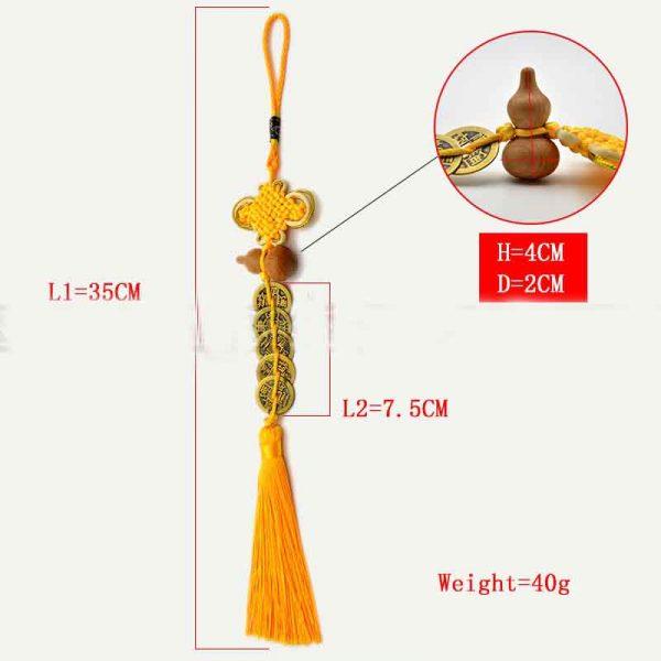 yellow feng shui rope