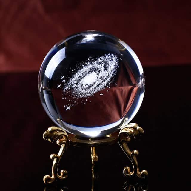 Feng Shui 3D Laser Engraved Quartz Glass Crystal Star Globe