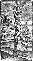 crucifixion on a stake