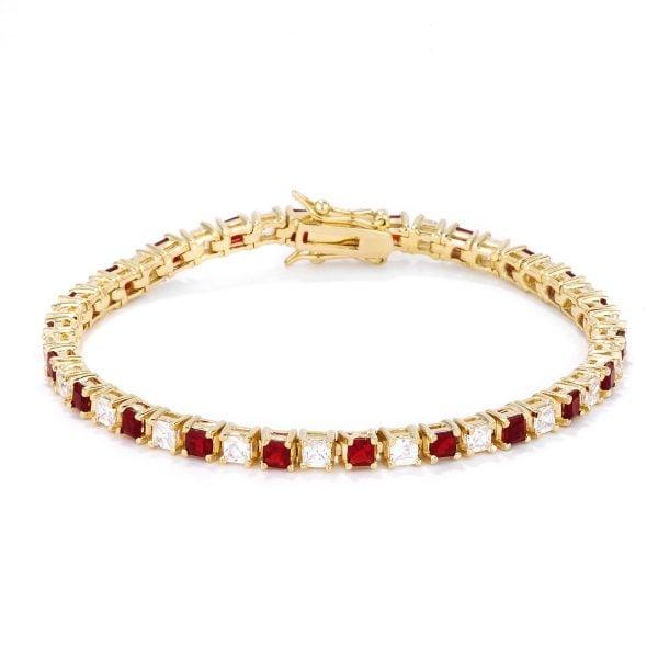 Roman Tennis Bracelet