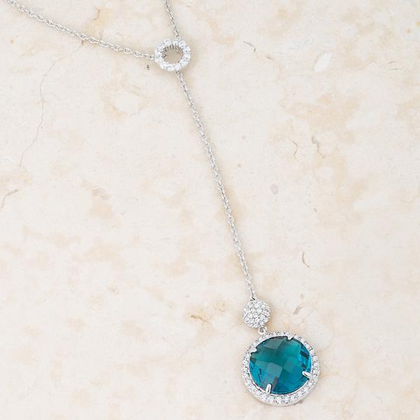 Aqua drop necklace