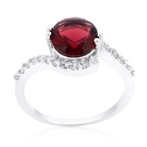 Red Swirling Lovers Ring