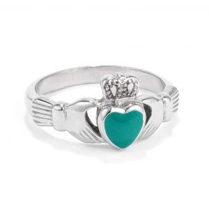 green irish heart ring