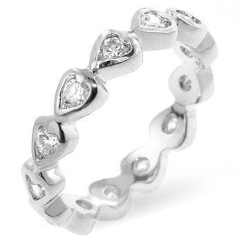 heart eternity ring