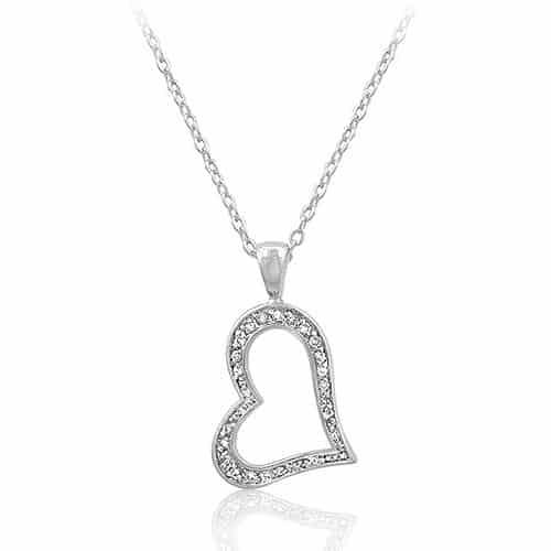 heart silhouette pendant