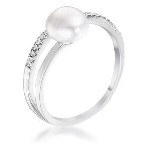 June Pearl birthstone ring