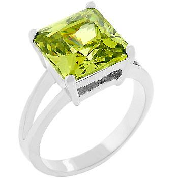 August Peridot birthstone ring