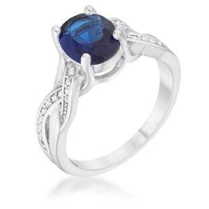September Sapphire birthstone ring
