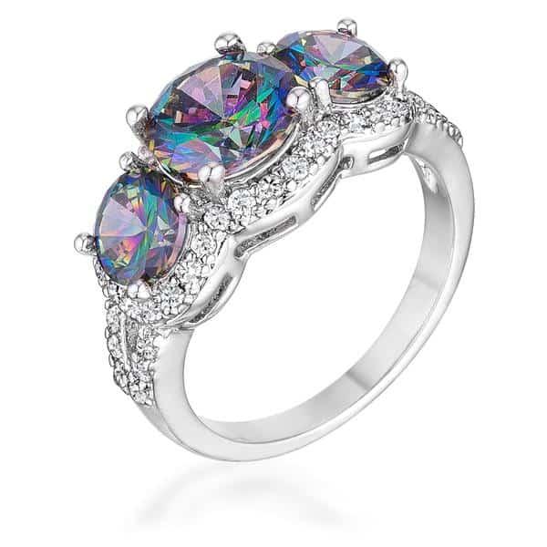 October Opal birthstone ring