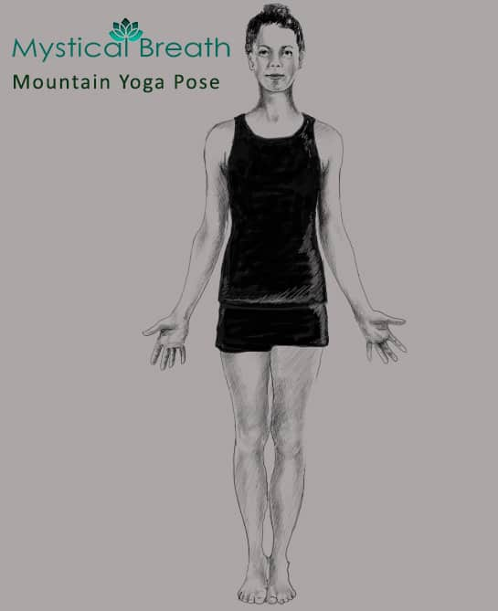Mountain Yoga pose