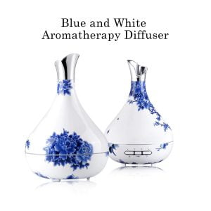 Blue and white aromatherapy diffuser